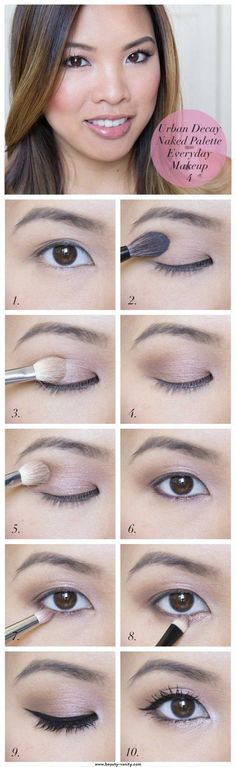 Everyday Makeup Tutorials for Brown Eyes | Gorgeous & Easy Eye Makeup Tutorials For Brown Eyes | Eye Shadow Tutorials at http://makeuptutorials.com/gorgeous-easy-eye-makeup-tutorials-brown-eyes-eye-shadow-tutorials/