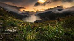 When dusk starts by Simon Roppel on Dusk, Mountains, Landscape, Nature, Travel, Naturaleza, Viajes, Scenery, Landscape Paintings