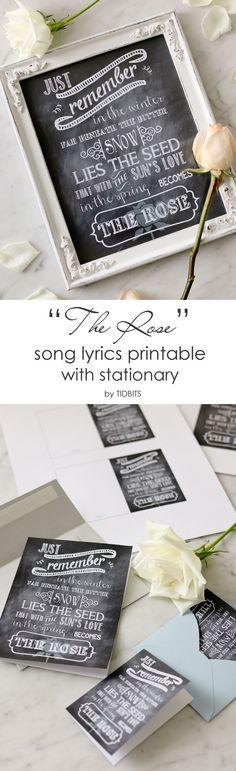 THE ROSE song lyrics