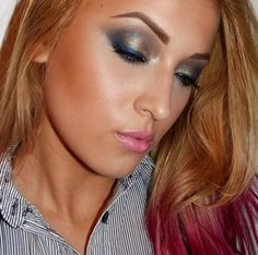 Gold & blue http://www.makeupbee.com/look.php?look_id=58666