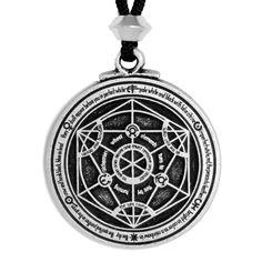 Alchemy Circle of Transformation Talisman - Alchemist Planetary Pendant Necklace by Pepi and