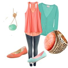Turquoise & Coral - Favorite Color Combination 1