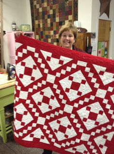 The block is 5 four-patches and 4 half-square triangles. Easy! Jacobs Ladder... link for video How-to: http://quiltingtutorials.com/browse-by-skill-level/intermediate-quilting-tutorials/jacobs-ladder-quilt/