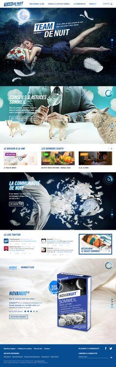 DA du site Team de Nuit pour Publicis Nurun