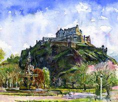 Edinburgh Castle Scotland © John D Benson