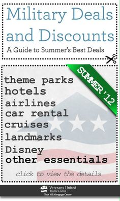 Full Guide on Military Deals, Discounts and Tips for Saving money on vacation, travel, cruises, airlines, landmarks, theme parks, museums and more!