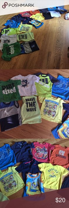 Boys tees and tanks All great condition. Comes with all shown. All size 3t. Brands nautica, garnanimals, despicable me, Disney, carters, gap, the children's place, old navy, paw patrol, circo, target, andi, adidas, Gymboree Adidas Shirts & Tops Tees - Short Sleeve