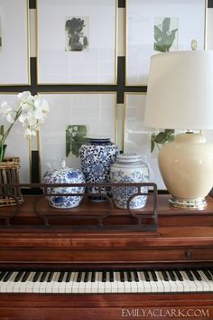 Decorating with blue and white: http://emilyaclark.com/2013/08/adding-blue-and-white-accessories.html