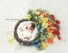 Rainbow Wreath Digital Newborn Photography Prop by CustomLittleThings on Etsy https://www.etsy.com/listing/271776712/rainbow-wreath-digital-newborn