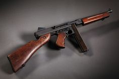 Thompson Sub Machine gun. This weapon suppressed the German or Japanese troops through ww2.