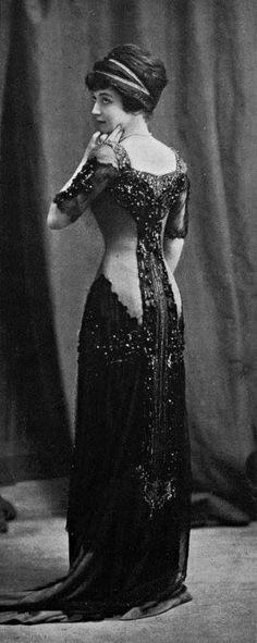 1910 Robe de soirée - Bourniche