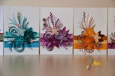 Neli Quilling Art: Quilling cards cm - cm/ and small quilling card cm/ Neli Quilling, Paper Quilling Patterns, Quilling Flowers, Quilling Cards, Quilling Designs, Paper Flowers, Diy And Crafts, Paper Crafts, Quilled Creations