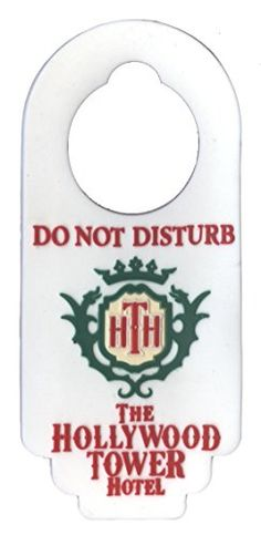 8acb27017fac Disney Soft Tough Magnet - The Hollywood Tower Hotel - Do Not Disturb -  Door Hanger Disney Parks