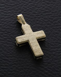 Σταυρός βαπτιστικός χρυσός Κ14 δύο όψεων