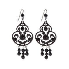 """""""Palace"""" Earrings Tarina Tarantino ($50) ❤ liked on Polyvore featuring jewelry, earrings, tarina tarantino jewelry, tarina tarantino earrings, chandelier earrings, chandelier jewelry and tarina tarantino"""