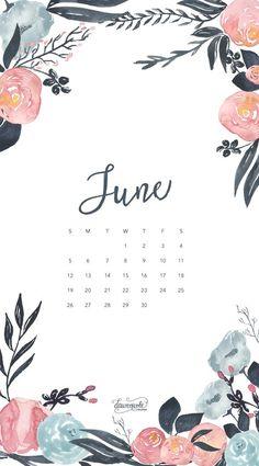 Обои iPhone wallpaper calendar June 2016