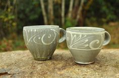 Pair of Tea Cups: East Fork Pottery