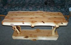 Daves High Quality Custom Juniper Rustic Log Furniture, Coffee Tables, end tables