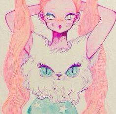 Art is Hard. Japanese Illustration, Illustration Sketches, Drawing Sketches, Art Illustrations, Human Sketch, Amazing Paintings, Anime Animals, Drawing Skills, Pastel Art