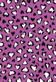 Cheetah Hearts PINK Wallpaper