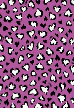 Cheetah Hearts PINK Wallpaper