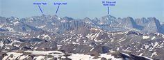 14ers.com • Mt. Eolus, Windom Peak, and Sunlight Peak Photo - Chicago Basin, Colorado 14er peaks