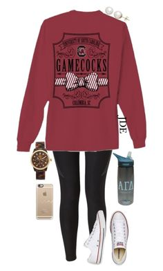 """Carry On."" by jane-dodge ❤ liked on Polyvore featuring NIKE, Converse, Michael Kors, Casetify, Honora and CamelBak"