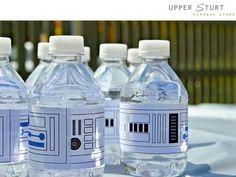 Star Wars water bottles.  Printable wrap.