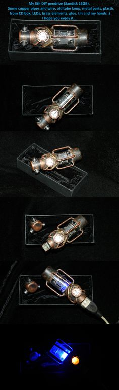 My 5th DIY steampunk pendrive. Details on the picture...