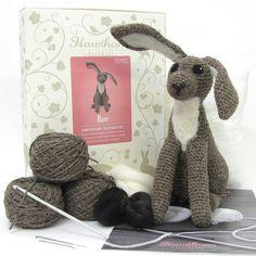Hare Amigurumi Crochet and Needle Felting Kit by HawthornHandmade