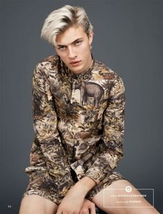 Lucky Blue Smith by Thomas Lohr for Hudson's Bay's Spring 2016 catalogue