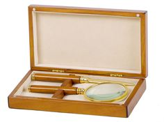 Libra's Wooden Magnifying Glass and Letter Opener Set - http://www.artisanti.com/wooden-magnifying-glass-and-letter-opener-set-12979-p.asp