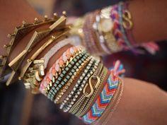 Accumulation of bracelets.