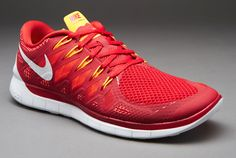Nike Free 5.0 14 - Mens Shoes - Gym Red-White-Light Crimson-Kumquat
