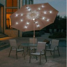 What a difference lighting can make to an outdoor space. It instantly creates a welcoming and cozy atmosphere.