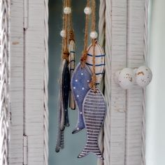 Wooden Fish Garland.  Dear Blackbird Homewares. nautical and nice!