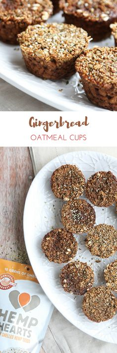 Make a big batch of our Gingerbread Oatmeal Cups and have breakfasts ready to go for the whole week! They're great for a quick breakfast during the busy holiday season and they're made with our Hemp Hearts.