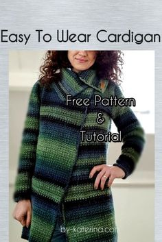 Crochet Cardigan Easy to wear cardigan. Free crochet pattern - ByKaterina - easy to wear cardigan free pattern. Fallow the step by step instructions and video tutorial and make yourself one. Crochet Saco, Crochet Coat, Crochet Cardigan, Crochet Clothes, Free Crochet, Patron Crochet, Crochet Sweaters, Crochet Dresses, Crochet Designs