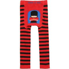 BLADE & ROSE Red & Black Stripe Cotton Leggings with Soldier