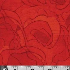 Tonal Poppies in Red in Gallery Fiori by Karen Tusinski for P & B Textiles