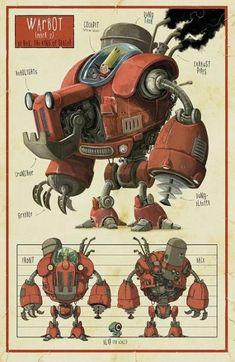 51 ideas steampunk robot concept art design reference for 2019 Character Design References, Game Character, Character Concept, Robot Design, Game Design, Design Art, Character Illustration, Illustration Art, Desenhos Cartoon Network