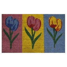 Home Decor Inc. Tulips Doormat