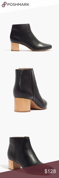 "NEW Madewell Lucien Boot in Leather Made of rich leather, these sleek new ankle boots give a low-key nod to timeless '60s styles. The not-too-high wooden heel is made for daily adventuring. ❗️PRICE FIRM❗️ ▪️These are my all-time favorite boots! So buttery soft, incredibly well made, super versatile, and just gorgeous with the sleek cut and silhouette! Just not my size - brand new without box, only tried on! ▪️4 3/8"" shaft height, 2"" heel. ▪️Leather upper, lining and sole. ▪️Runs true to…"