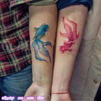 japanese goldfish tattoo - Hledat Googlem