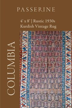 This brown kurdish vintage rug is a fantastic example of a rug with wear and character. We chose to keep it just as we found it, as its wear and imperfect edges only enhances the rustic feel of its primitive repeating boteh motif and angular tribal border. Its 4x8 size is a size that allows you to enjoy it in many different spaces in your home including a dinning room, entryway, or small living room. Interior Design Photos, Beautiful Interior Design, Vintage Rugs, Vintage Items, Carpet Cleaning Machines, Large Rugs, Rustic Feel, Or Antique