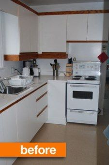 via Apartment Therapy, cute renovation idea. http://www.apartmenttherapy.com/before-after-gemmas-under-200-kitchen-spruce-up-165505