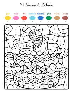 Ausmalbild Malen nach Zahlen: Torte zum 9. Geburtstag ausmalen kostenlos ausdrucken                                                                                                                                                                                 Mehr