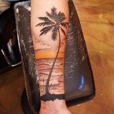 Best Palm Tree Tattoo Designs and Meaning - [Ideas of Tribal Tattoos, Tattoos Skull, Forearm Tattoos, Body Art Tattoos, Cool Tattoos, Deer Tattoo, Raven Tattoo, Geometric Tattoos, Tattoo Ink
