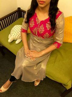 Different types of kurtis designs - Easy Craft Ideas Salwar Neck Designs, Churidar Designs, Blouse Designs, Punjabi Dress, Saree Dress, Saree Blouse, Ethnic Fashion, Indian Fashion, Indian Dresses