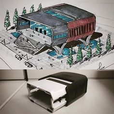 Interesting Architectural Drawings - New Deko Sites Concept Models Architecture, Conceptual Architecture, Architecture Design, Spaceship Design, Spaceship Concept, Urban Design Concept, Industrial Design Sketch, Sketch Design, Concept Art